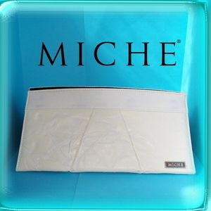 MICHE Bag Classic shell only white vinyl